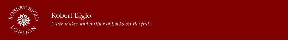Robert Bigio Flute maker and author of books on the flute